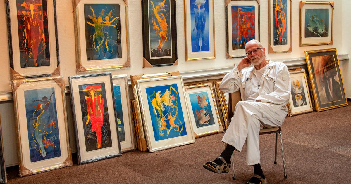 Reidar Finsrud z wieloma artystami