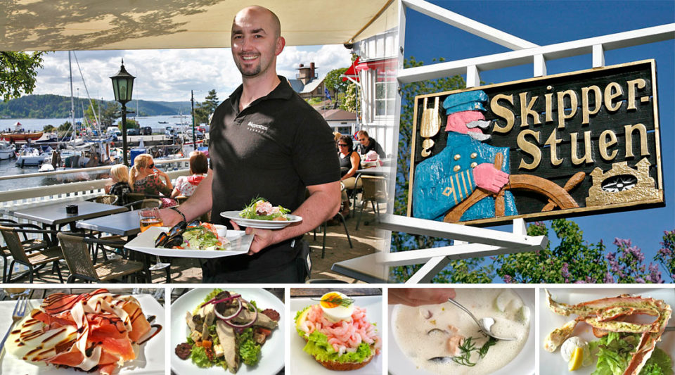 Skipperstuen har en unik beliggenhet i småbåthavna og er kjent for sitt gode kjøkken.