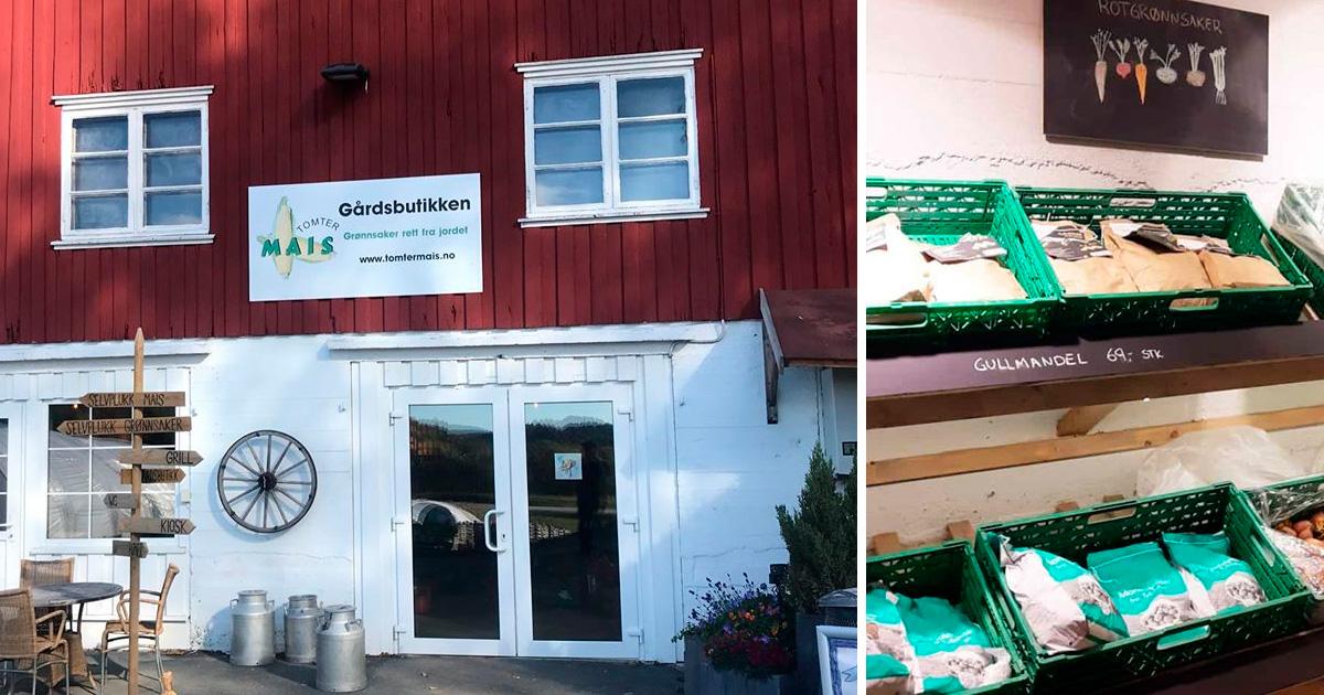 Tomtermais - Gårdsbutikk