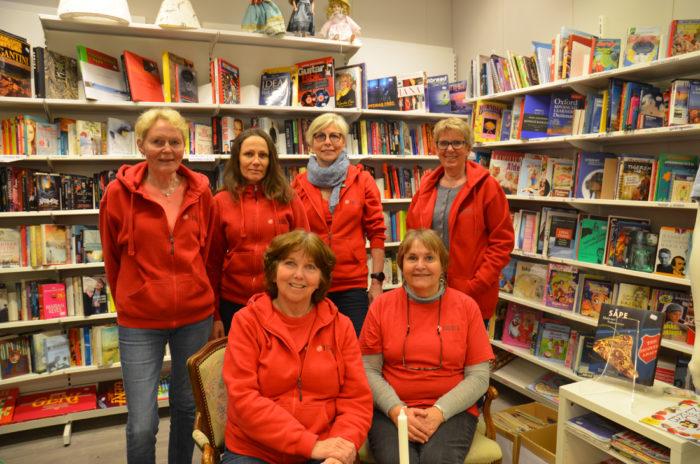 Gjengen på Fretex i Drøbak