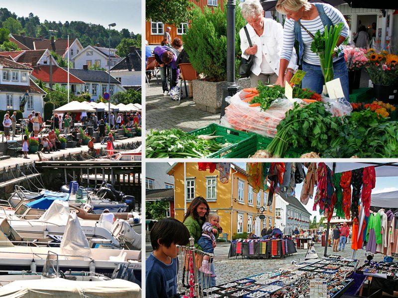 Her dominerer ikke de store kjedebutikkene. I Drøbak finner du små, hyggelige forretninger med gaveartikler, klær og sko, antikviteter og kunsthåndverk.